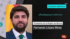 """Gota fría: López Miras, presidente de Murcia: """"Estamos a la espera de lo peor"""""""