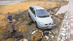 Una tromba de agua convierte en ríos las calles de la localidad malagueña de Alhaurín el Grande
