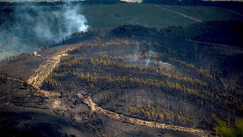 Controlado el incendio de A Gudiña tras quemar cientos de hectáreas