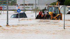 Las lluvias torrenciales han reactivado el nivel naranja en Cádiz, Córdoba, Jaén, Málaga y Sevilla