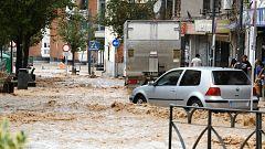 Una tromba de agua provoca inundaciones en zonas de la Comunidad de Madrid