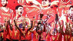 La selección española celebra en las calles de Madrid su segundo Mundial