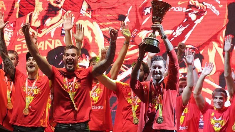 Madrid celebra con la selección española de baloncesto su segundo título Mundial