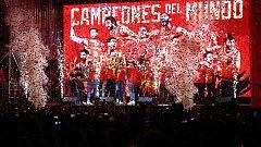 Todos los detalles de la celebración de la selección española de baloncesto con la afición
