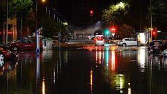 Aparato eléctrico y lluvias torrenciales en el centro peninsular