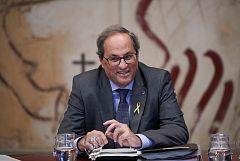 El TSJC ordena a Torra retirar de la Generalitat la pancarta de apoyo a los políticos presos