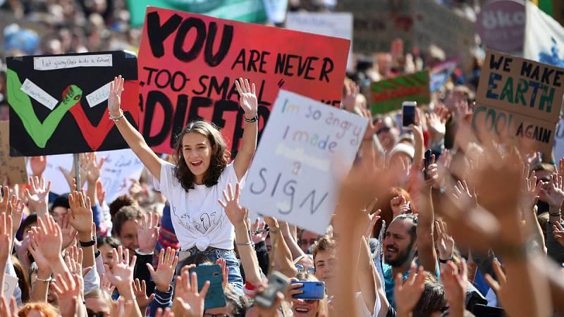 Jóvenes españolas toman la palabra en la Cumbre del Clima