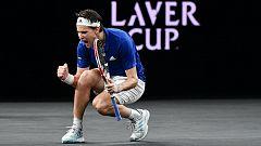 Tenis - Laver Cup 2019. 1r.partido individual: D. Thiem - D. Shapovalov