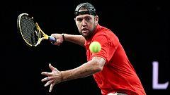 Tenis - Laver Cup 2019. 2º partido individual: F. Fognini - J. Sock
