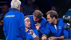 Nadal y Federer ejercen de entrenadores en la Laver Cup antes de su dobles
