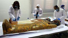 Las momias egipcias comienzan a llegar al Museo de la Civilización