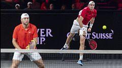 Tenis - Laver Cup 2019. 9º partido dobles: Federer/Tsitsipas - Isner/Sock
