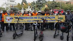 Los usuarios de patinetes se manifiestan en toda España para exigir una regulación menos restrictiva