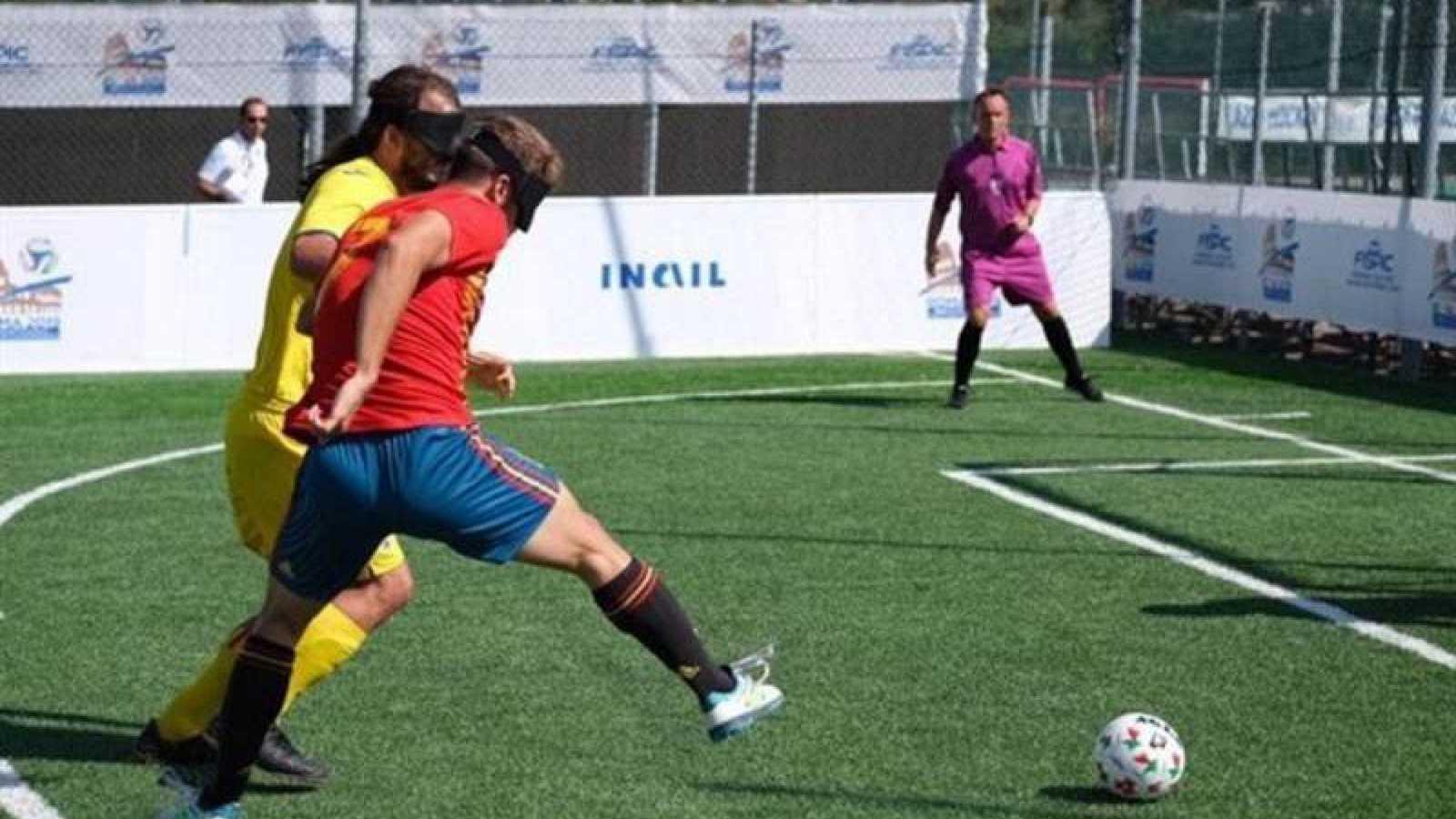 España pasa a la final del Europeo de fútbol para ciegos e irá a los Juegos