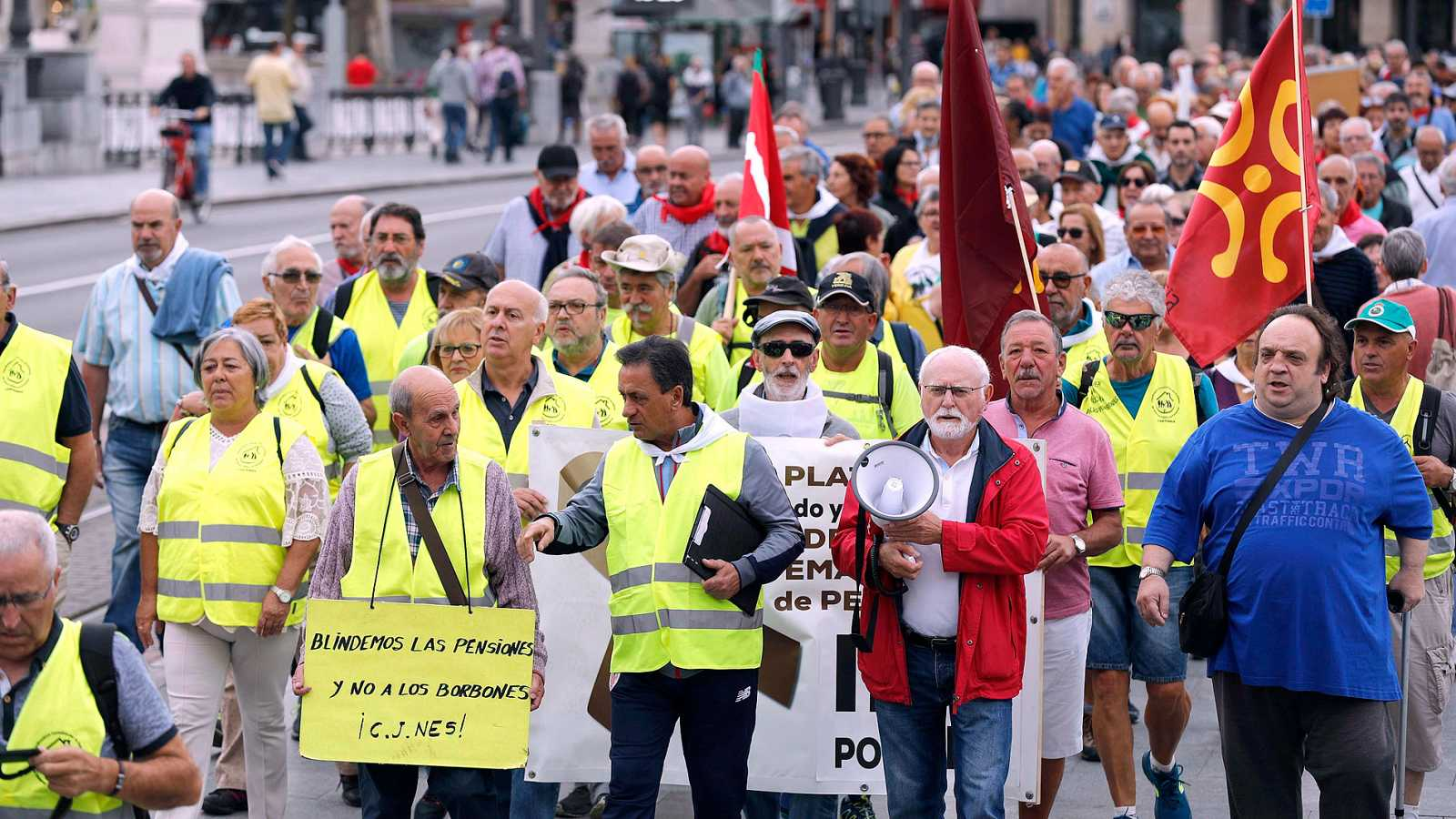 Jubilados marchan hacia Madrid para reclamar la subida de las pensiones