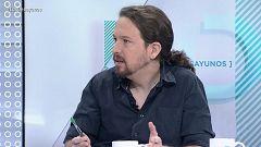 Los desayunos de TVE - Pablo Iglesias, Secretario general de Podemos, y Belén Barreiro, socióloga y expresidenta del CIS