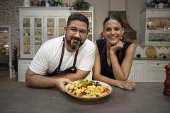 Hacer de comer - Pasta con verduras y presa ibérica al horno