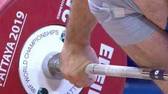 Halterofilia - Campeonato del Mundo 2019. Final 96 kg. Masculinos, arrancada