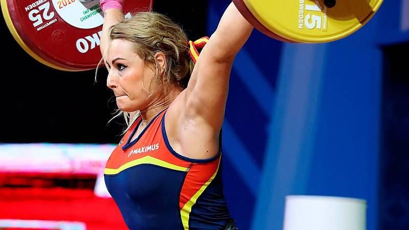 La haltera española Lydia Valentín ha quedado en quinto lugar en arrancada dentro de la final de 81 kg. tras hacer un nulo en su tercer intento con 112 kilos.