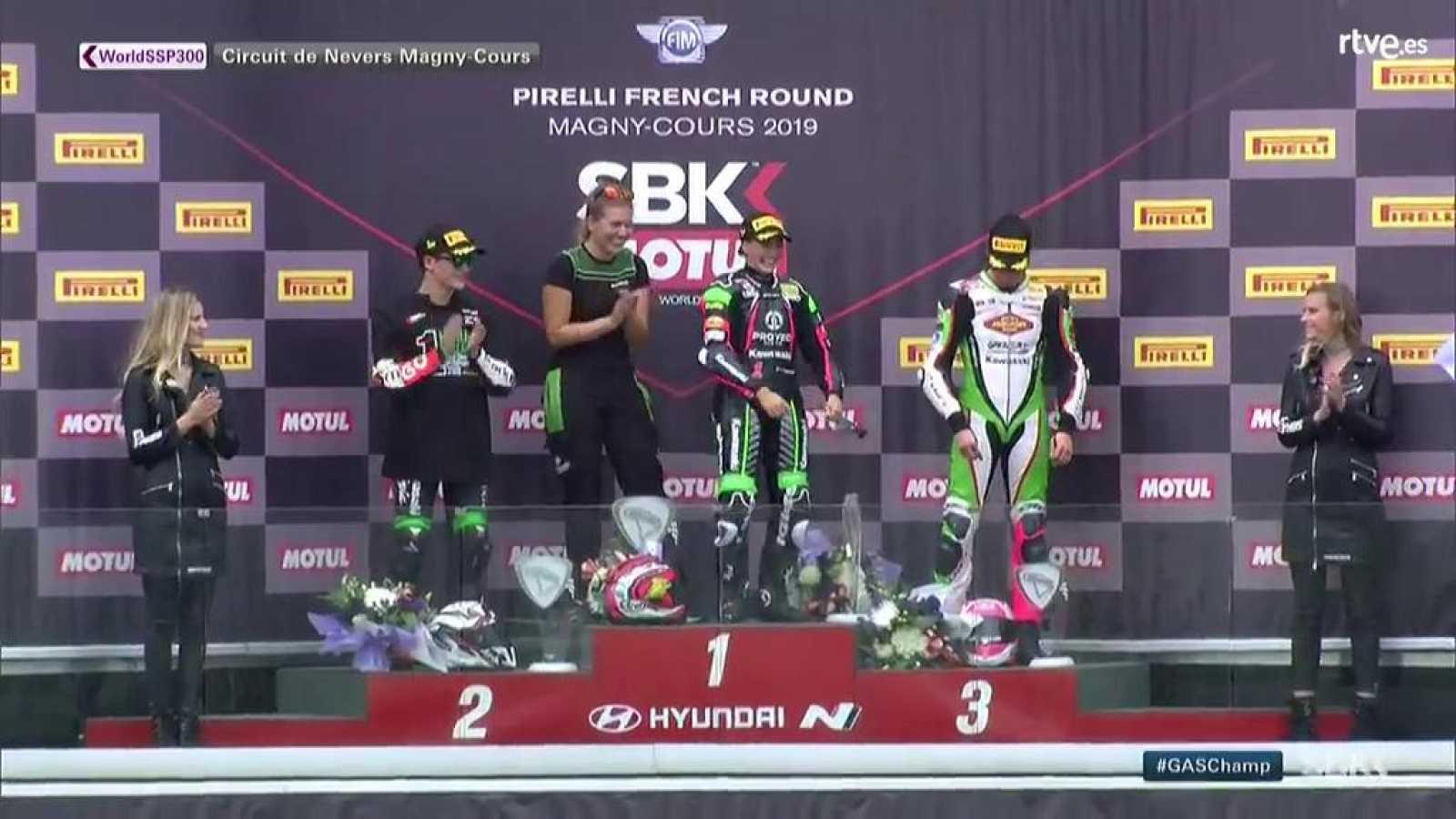 El podio de Magny Cours