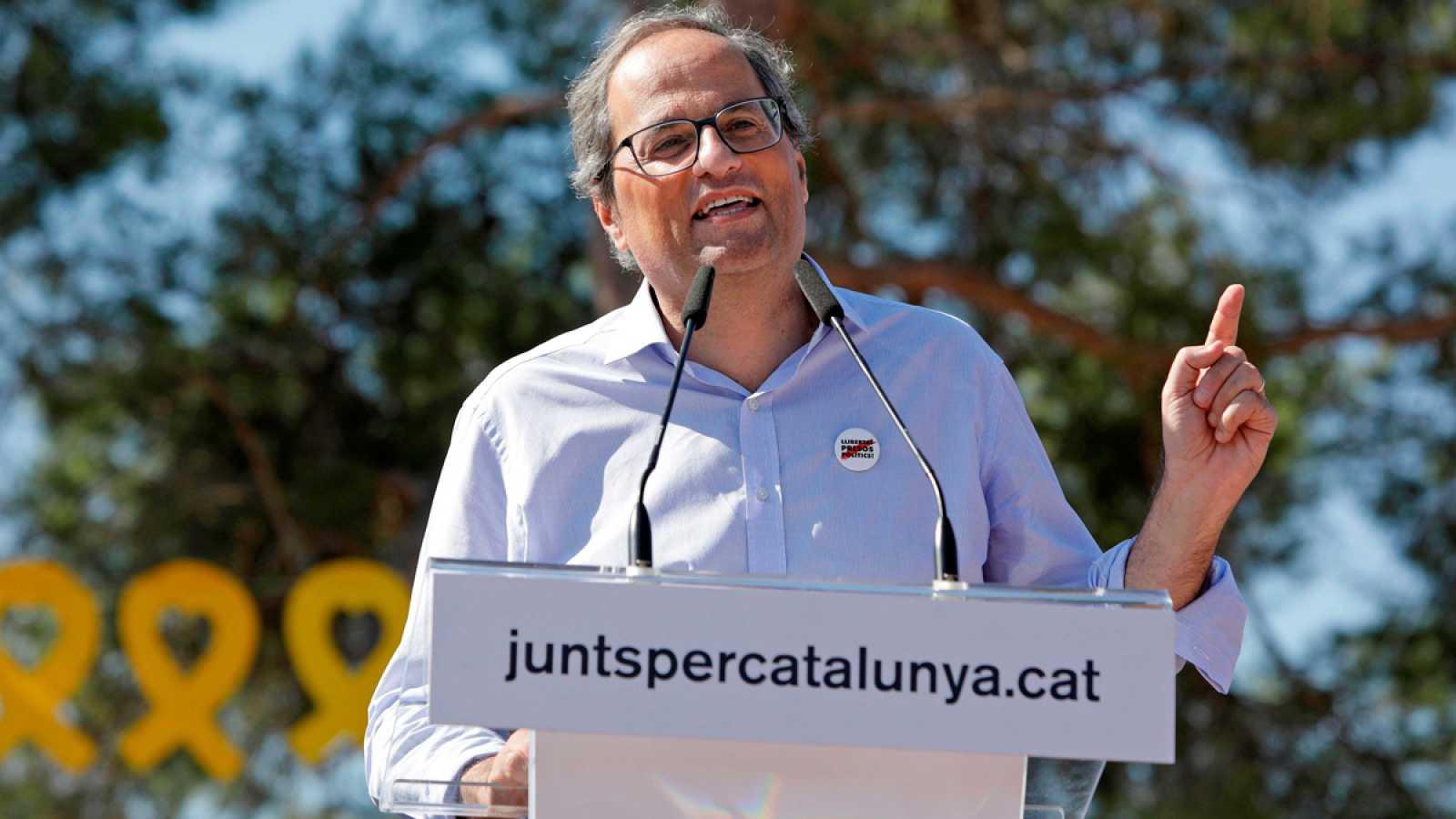 Cinco de los CDR detenidos trataron de actuar de enlace entre Torra y Puigdemont
