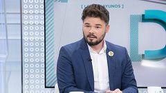 """Rufián (ERC): """"No hay idea en política que justifique la violencia, ni la autodeterminación de Cataluña, ni la unión de España"""""""