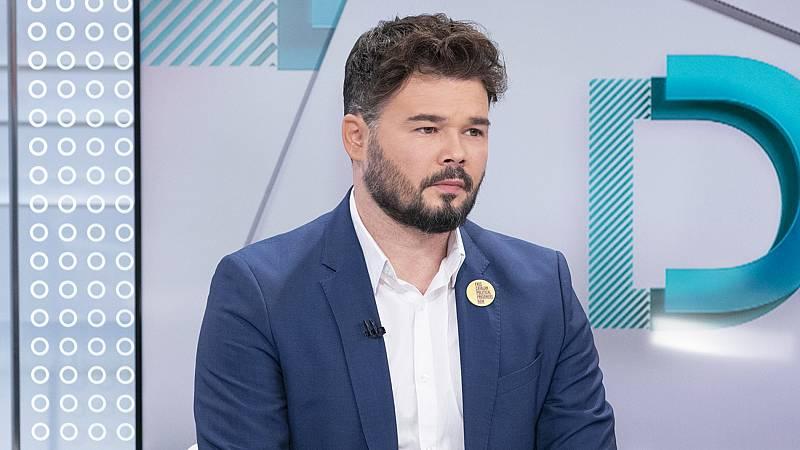 """Rufián (ERC): """"Cataluña es un pueblo inequívocamente pacífico"""""""
