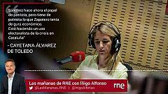 """Las Mañanas de RNE con Íñigo Alfonso - Álvarez de Toledo: """"Sánchez tiene de patriota lo que Zapatero tenía de gurú económico"""""""