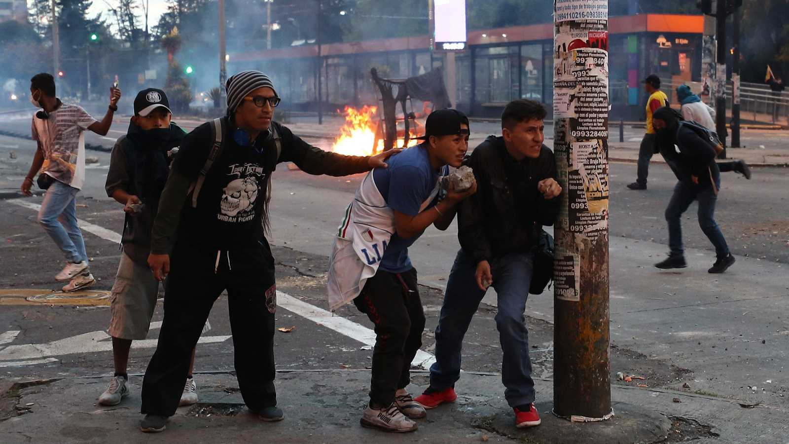 Continúan las protestas en Ecuador por la retirada de los subsidios a los carburantes