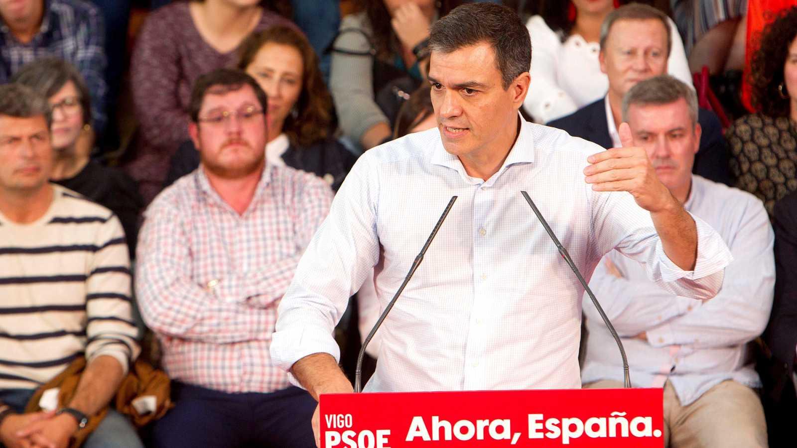 """Sánchez contesta a Rivera: """"No pedimos el apoyo de Cs y mucho menos de un partido que pacta con la ultraderecha"""""""