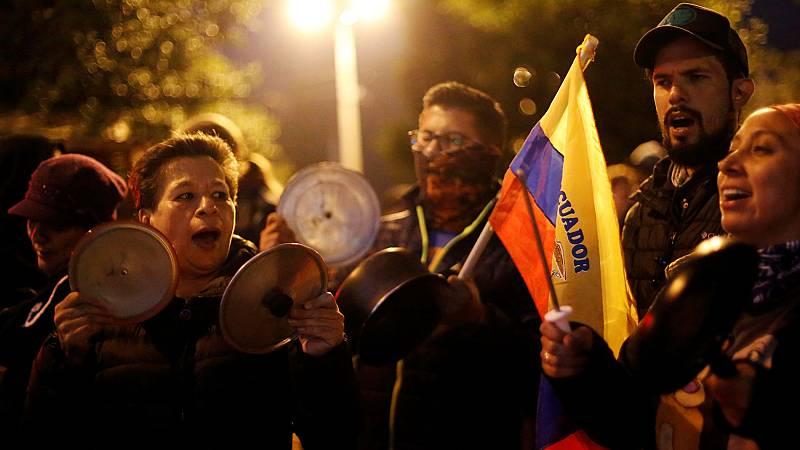 Los indígenas al frente de las protestas en Ecuador por la eliminación del subsidio a los combustibles - Ver ahora