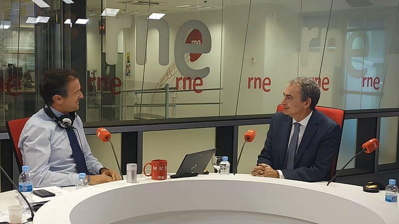 """Las Mañanas de RNE con Íñigo Alfonso - Zapatero: """"Seamos prudentes con la gran coalición entre PP y PSOE"""" - Ver ahora"""