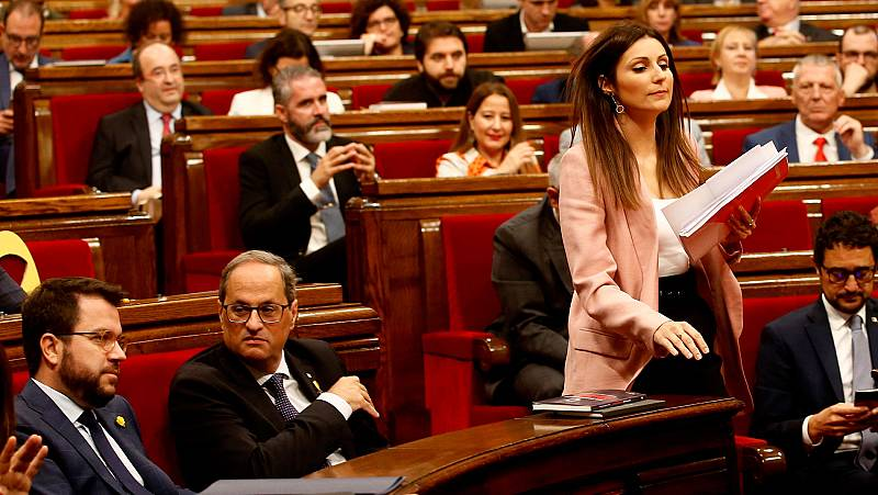 """Cs critica que el PSC no apoye la moción contra Torra, y el resto de partidos acusan a los naranjas de """"electoralismo"""""""