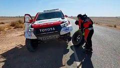 Fernando Alonso rompe la suspensión y se complica el rally de Marruecos