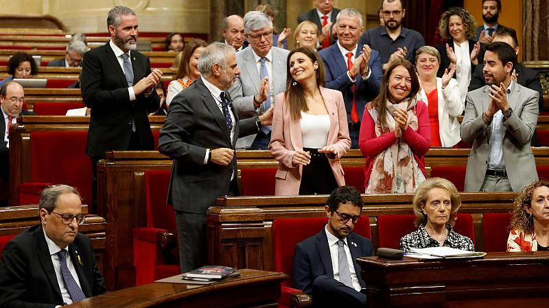 Moción de censura a Torra en el Parlament sin mayoría para que se apruebe