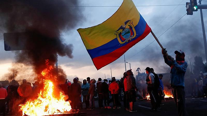 Tensión en Ecuador en las manifestaciones contra la política de austeridad de Lenin Moreno