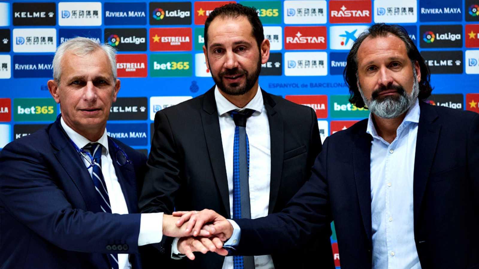 El nuevo entrenador del RCD Espanyol, Pablo Machín, ha asegurado  en su presentación como nuevo técnico blanquiazul que quiere mejorar  y crecer de la mano de su nuevo equipo y, con trabajo e implicación,  subsanar la mala situación actual.