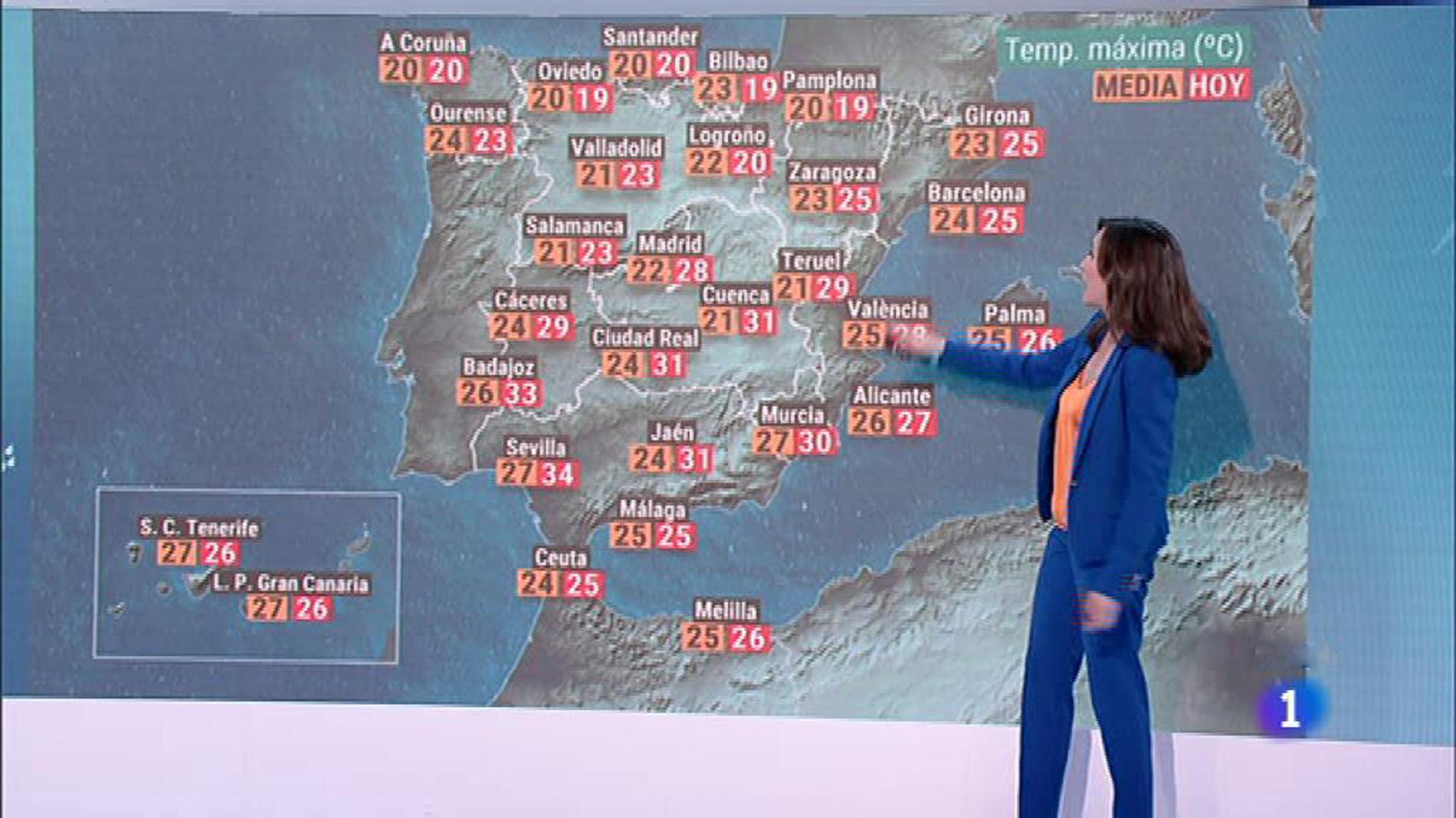 El Tiempo Bajada De Temperaturas En El Norte Peninsular Y Extremadura Y Sin Cambios En El Resto Rtve Es