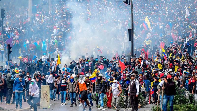 Indígenas y las principales centrales obreras apoyan la huelga general en Ecuador