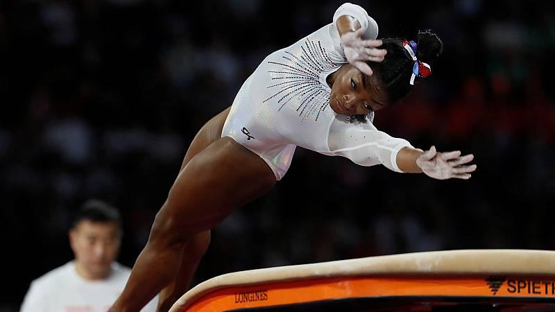 Simone Biles: prueba de salto en la final individual del Mundial 2019