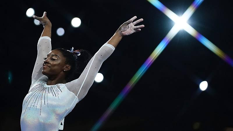 Simone Biles conquista su quinto Mundial tras su ejercicio de suelo