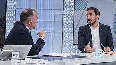 """Entrevista a Alberto Garzón (IU) en Los Desayunos: El PSOE """"está intentando instrumentalizar la cuestión de Franco"""""""