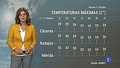 El tiempo en Extremadura - 11/10/19