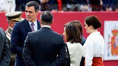 Abucheos al presidente Pedro Sánchez en el desfile de la Fiesta Nacional