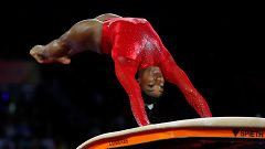 Simone Biles logra el oro en salto e iguala el récord de Scherbo