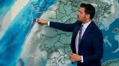 Lluvia y descenso térmico en el noroeste, poco nuboso en el resto