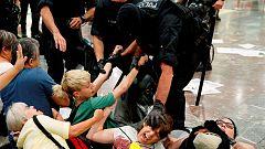 Incidentes en la estación de Sants por una protesta independentista contra la sentencia del 'procés'