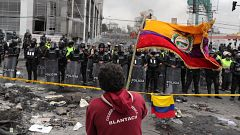Quito convertida en la dura huella de una protesta contra el FMI