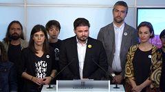 """Rufián: """"Es la mayor agresión a Cataluña desde el juicio de 1940 contra Companys"""""""