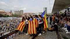 Interrumpen el servicio de tren convencional en Girona
